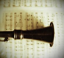 Vintage Silver Clarinet by ChristyOliver