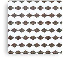 Chevron graph with a twist pattern Canvas Print