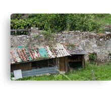 woodshed in the mountains Canvas Print