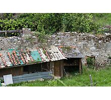 woodshed in the mountains Photographic Print