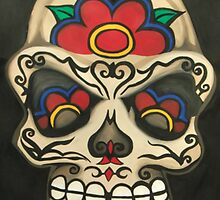 Sugar Skull- Creamy Face by ArniesArt