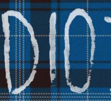 IDIOT (Blue flannel) Sticker