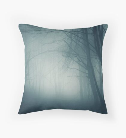 Haunted Fog Throw Pillow