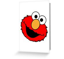 elmo head Greeting Card