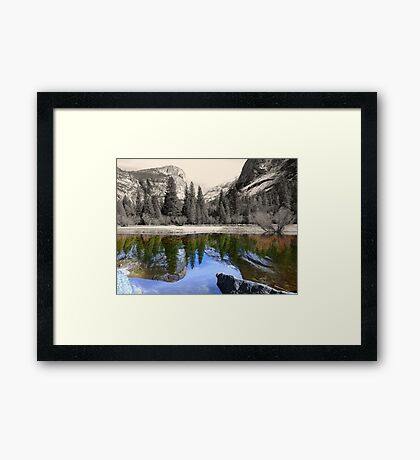 Yosemite - Mirror Lake Framed Print