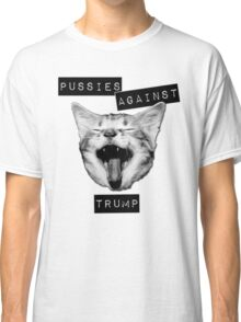 Pussies Against Trump Grey Classic T-Shirt