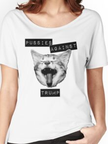 Pussies Against Trump Grey Women's Relaxed Fit T-Shirt