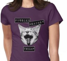 Pussies Against Trump Grey Womens Fitted T-Shirt