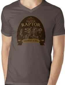 Dapper Raptor Mens V-Neck T-Shirt