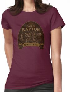 Dapper Raptor Womens Fitted T-Shirt
