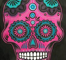 Sugar Skull-Pink Candy by ArniesArt