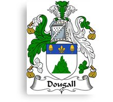 Dougall Coat of Arms / Dougall Family Crest Canvas Print