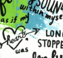 My Heart, Long Stopped - Albert Camus Quote Sticker