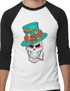 Day of the Dead Voodoo Skull Men's Baseball ¾ T-Shirt