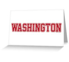 Washington Jersey Red Greeting Card