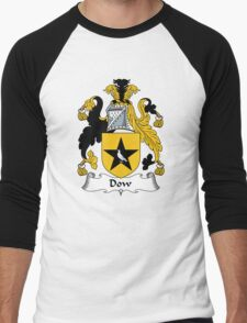 Dow Coat of Arms / Dow Family Crest Men's Baseball ¾ T-Shirt