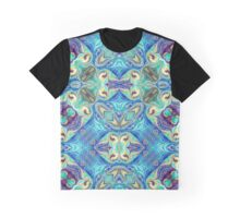 Marbled Flower Graphic T-Shirt