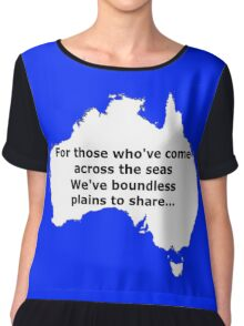 Boundless plains to share! Chiffon Top