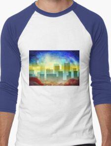 Minimalist, abstract colorful Urban design Men's Baseball ¾ T-Shirt