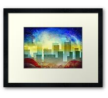 Minimalist, abstract colorful Urban design Framed Print
