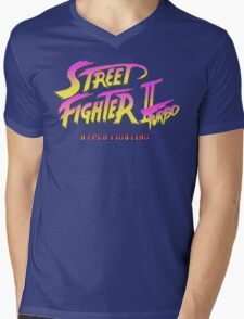 Street Fighter II Turbo Mens V-Neck T-Shirt