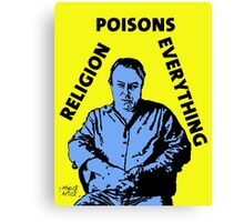 Christopher Hitchens Poison Canvas Print