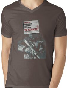 The Accountant Movie Mens V-Neck T-Shirt