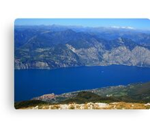 Looking Down On Lake Garda Canvas Print