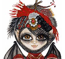 Lucy Kate with Steampunk Party Hat by CapeCodGiftShop