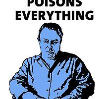 Christopher Hitchens white background by DJVYEATES