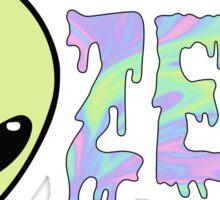zeta alien Sticker
