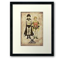 The Adventures of Hat-man and John the Boy Wonder Framed Print