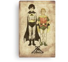 The Adventures of Hat-man and John the Boy Wonder Canvas Print
