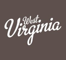 West Virginia Script White Kids Clothes