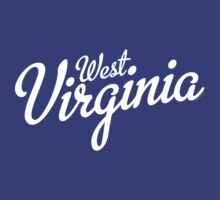 West Virginia Script White by USAswagg2