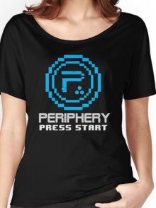 Periphery 8-bit Blue/Select Difficulty Women's Relaxed Fit T-Shirt