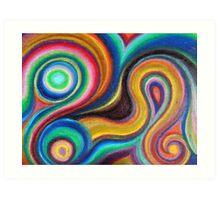 Swirly Colors Art Print