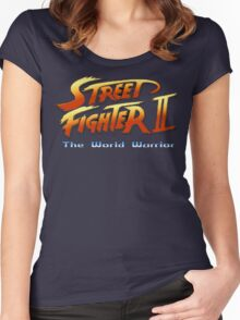 Street Fighter II: The World Warrior Women's Fitted Scoop T-Shirt