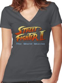 Street Fighter II: The World Warrior Women's Fitted V-Neck T-Shirt