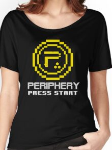 Periphery 8-bit Yellow/Ketchup vs. Mustard Women's Relaxed Fit T-Shirt