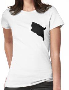 fat cat logo  Womens Fitted T-Shirt