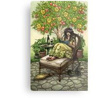 Everyday Witch Tarot - Nine of Pentacles Metal Print