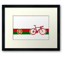Bike Stripes Portugal  Framed Print