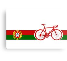 Bike Stripes Portugal  Metal Print