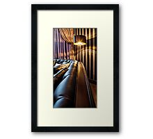 sofa and the floor lamp Framed Print