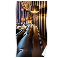 sofa and the floor lamp Poster
