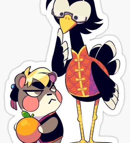 Bird & Hamster Sticker