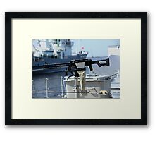 Machine gun Kalashnikov Framed Print