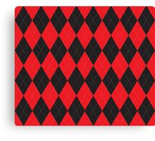 Red and Black Argyle Canvas Print