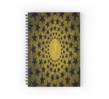 Stars Edgy Pattern Faded Gold Spiral Notebook